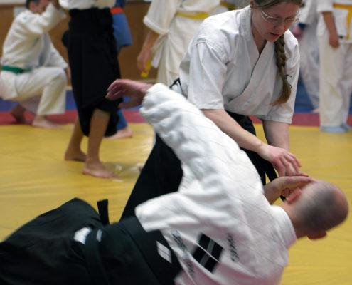 Хакко Деншин рю. Отработка техники традиционного джиу-джитсу.