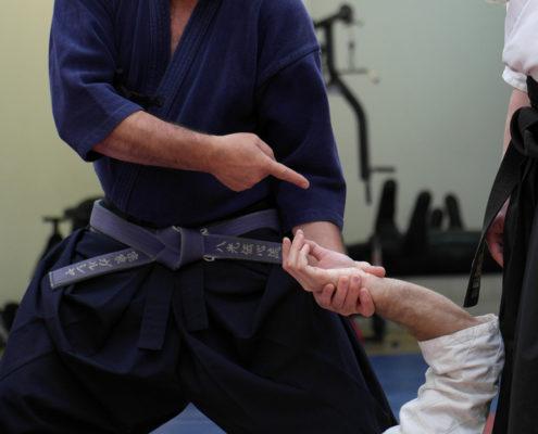 Сокэ Гарсиа демонстрирует санкаджо.