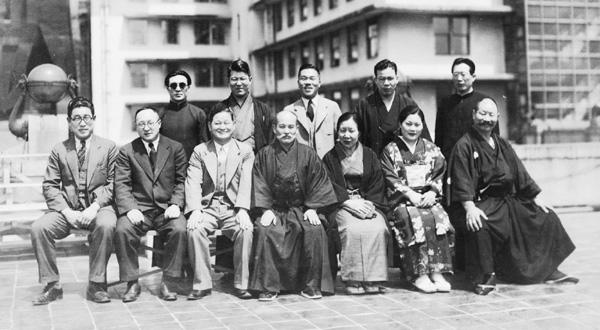 Морихеи Уэсиба в Осаке, 1935