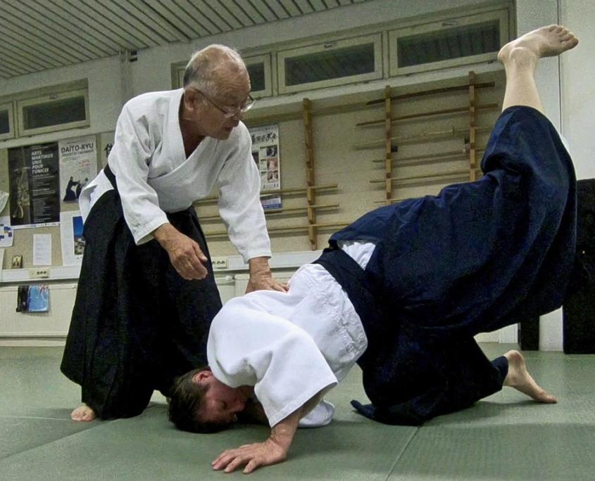 Кобаяси Киохиро в Фудошин-додзё