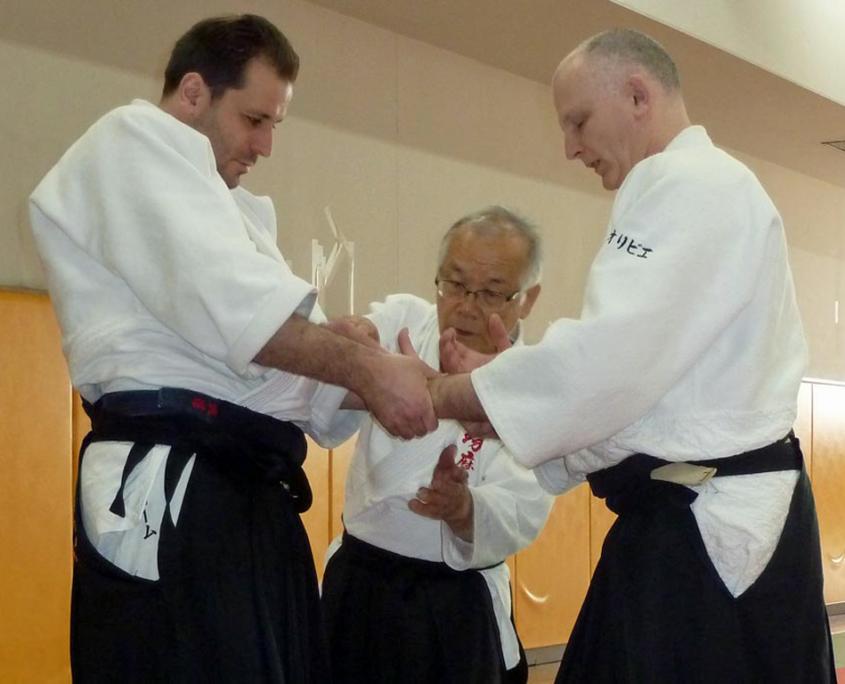 Кобаяси Киохиро на тренировке