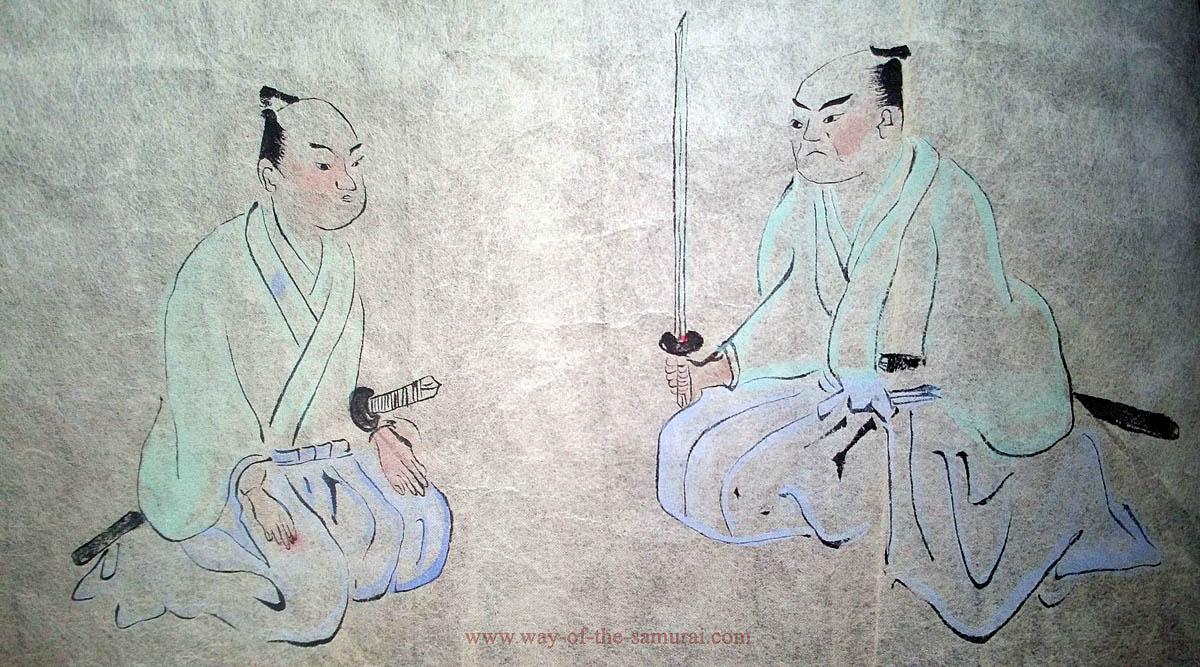Самурай с длинным мечом в сэйдза
