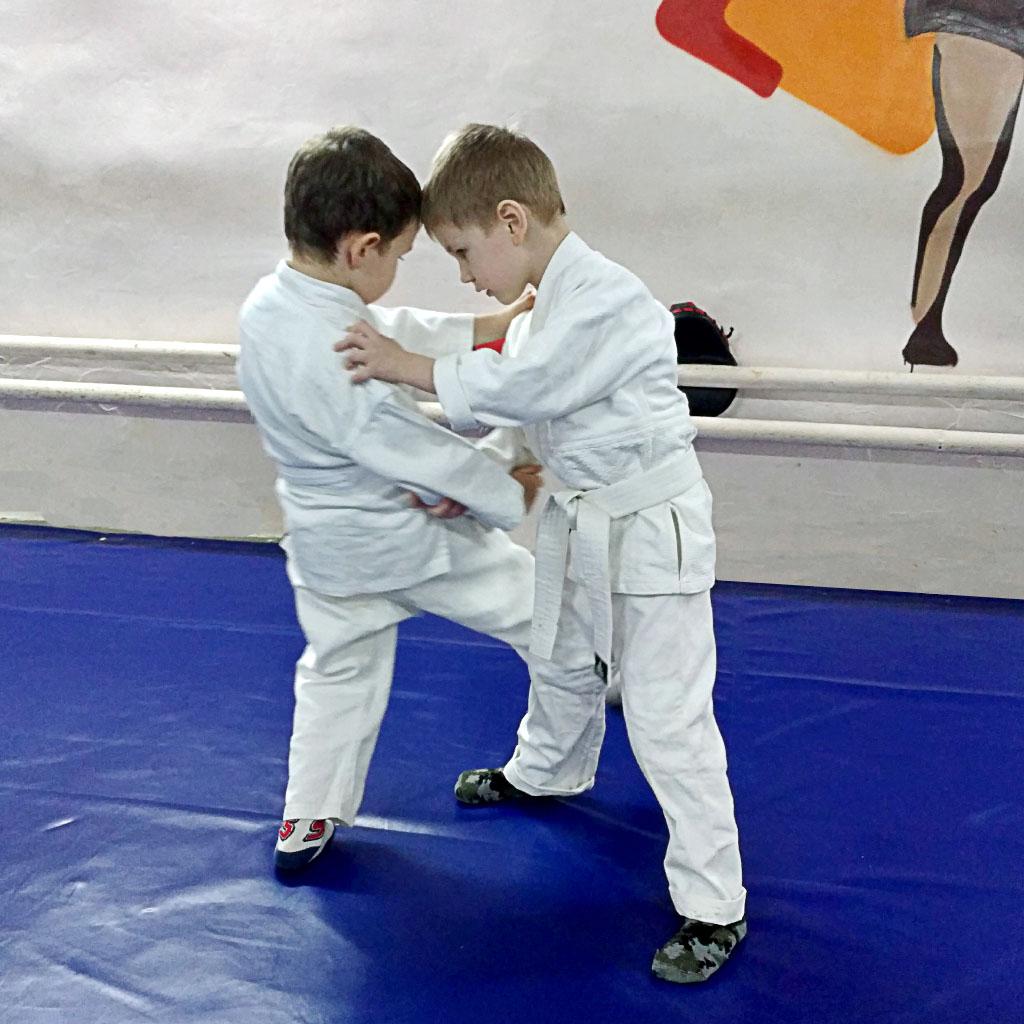детская тренировка по джиу-джитсу