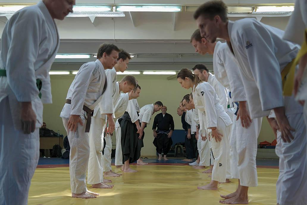 Тренировка в традиционном джиу-джитсу